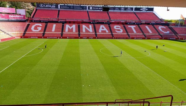 El Nou Estadi abans d'acollir el Nàstic-Linares