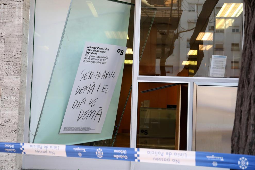 Entran a robar en una oficina del banco sabadell despu s for Oficina 7305 banco sabadell