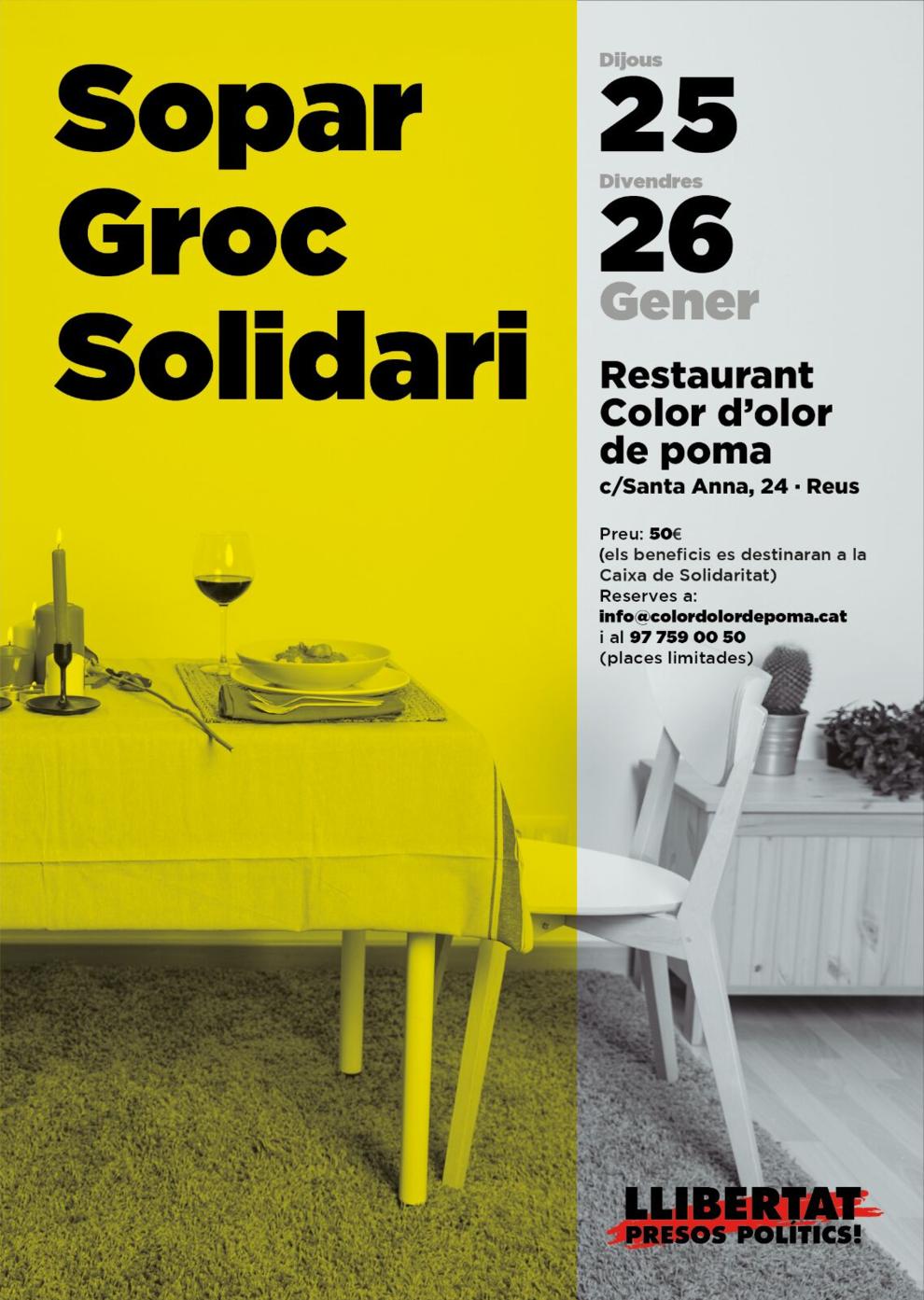 Reus acogerá una cena amarilla en solidaridad con los políticos ...
