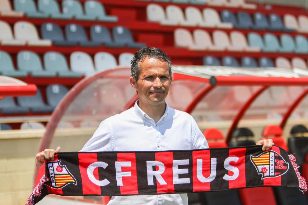 Xavier Bartolo, en su presentación con el CF Reus.